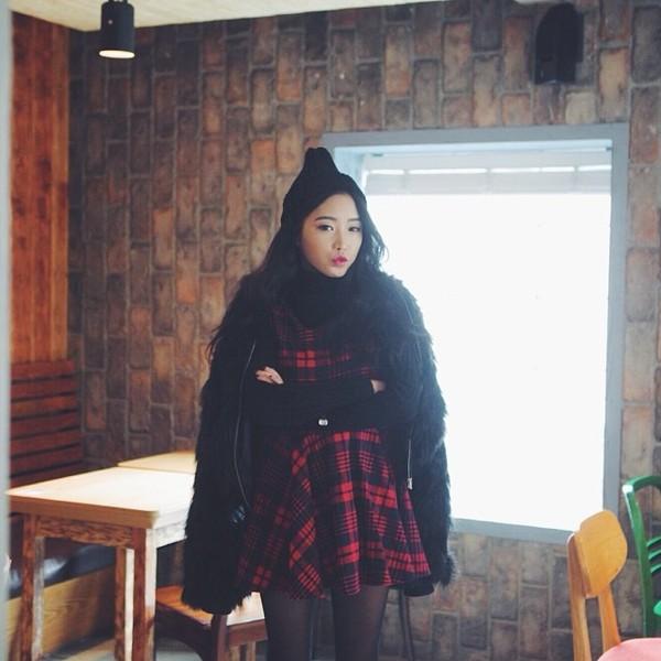dress stylenanda plaid checkered black red