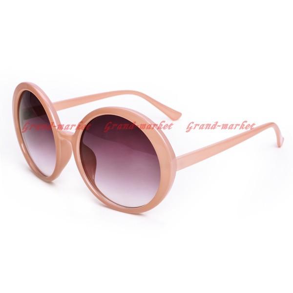 New Hot Women's Round Oversized Designer Fashion Shades Pink Frame Sunglasses | eBay