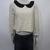 Sabo Skirt Ivory Lace Peter Pan Collar Long Sleeves Romantic Crop Top Sz 8 | eBay