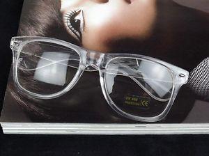 Vintage Square Glasses Eyewear Frames Clear Transparent Full Rim Decoratedunisex | eBay