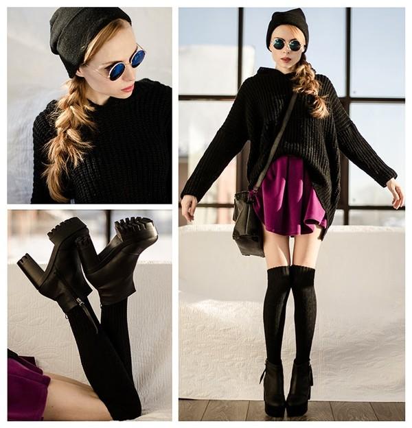 tini tani hat bag skirt shoes sweater