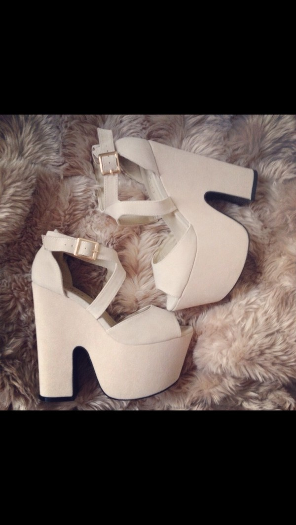 shoes high heels white nude