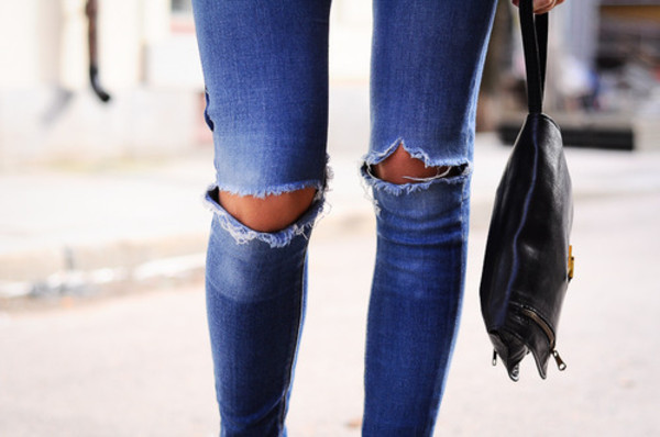 jeans denim ripped ripped jeans blue blue jeans