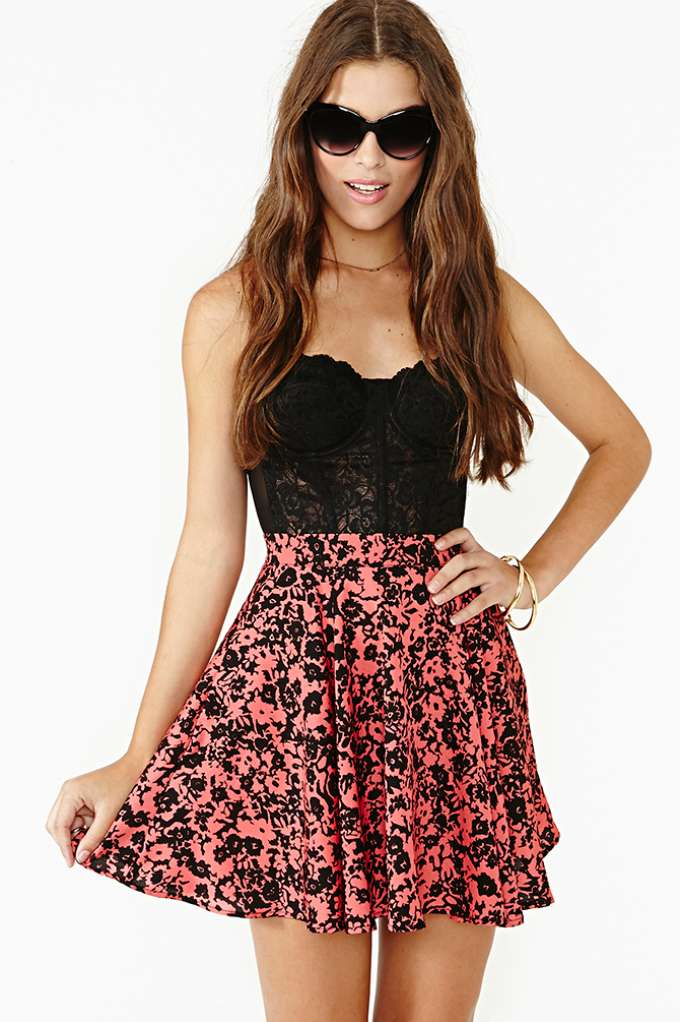 Fading Flower Skirt  in  Clothes at Nasty Gal