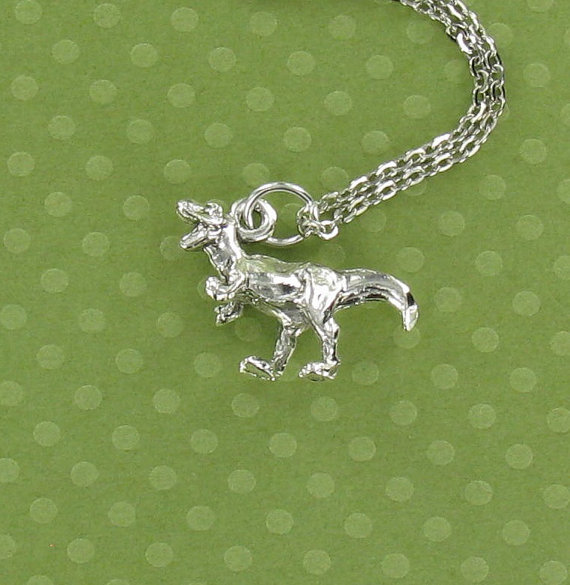 T. REX Dinosaur  Pewter Charm on a FREE Plated Chain by QterPewter