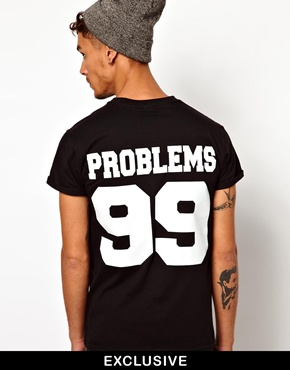 Reclaimed Vintage | Reclaimed Vintage T-Shirt With Problems Print at ASOS
