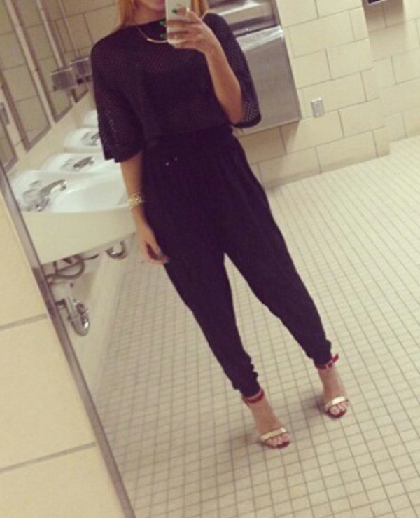 jumpsuit clothes crop tops harlem pants romper