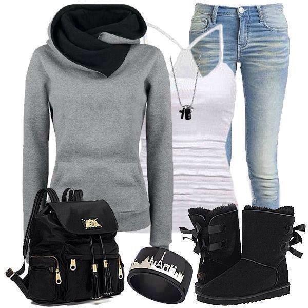 shoes black boots blouse jeans