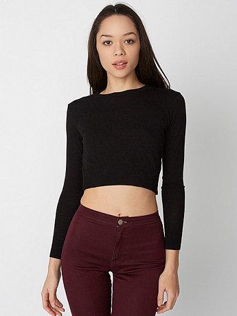 Lightweight Crop Sweater | American Apparel
