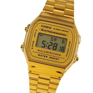 Casio A168WG 9 Men's Vintage Gold Tone Metal Band Chrongo Alarm Digital Watch 4971850742333 | eBay