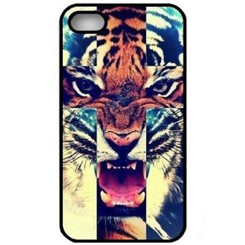 EVERMARKET(TM) Roar Tiger Cross Hipster Pattern Snap On Hard Case Cover for iPhone4 4G 4S  Screen Protector on Wanelo