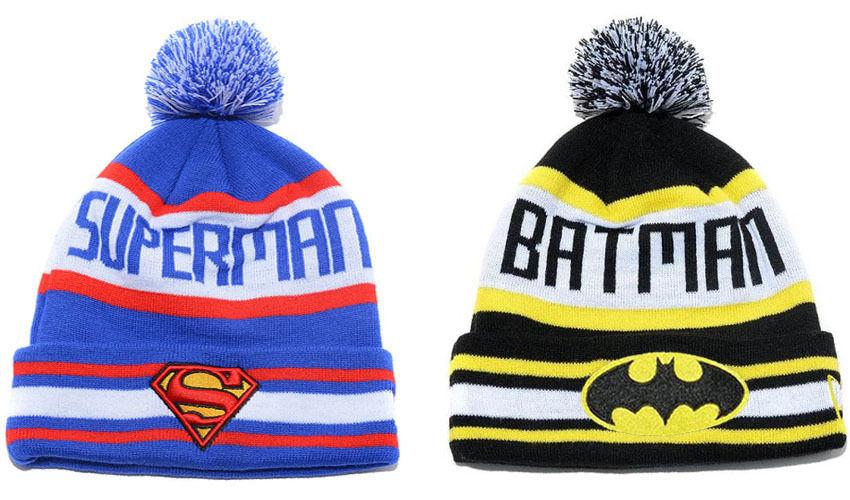 Hip Hop Men's Women's Superman Batman Beanies Winter Cotton Knit Cap Wool Hats | eBay