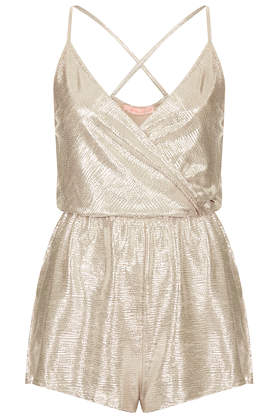 **Wrap Front Playsuit by Oh My Love - Topshop