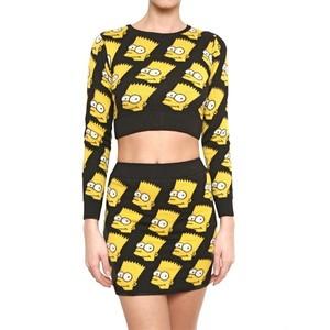 Bart Simpson Cropped Pullover | Fashfix | Why Blogshop? Shop, Swap, Sell on Fashfix | Singapore