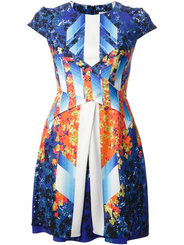 dress peter pilotto printed dress layered dress