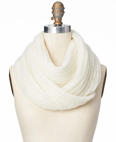 Stitched Infinity Scarf   Ann Taylor