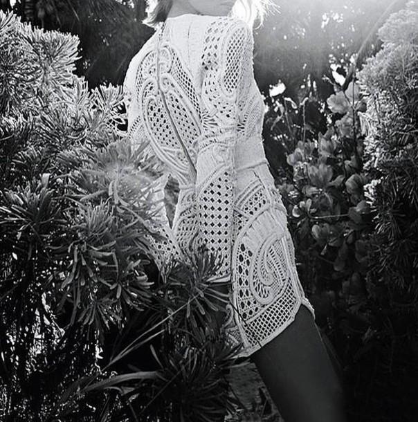 dress the native fox lace dress white dress white lace dress