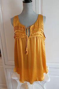 Calypso ST Barth Gold Silk TOP L $135 | eBay