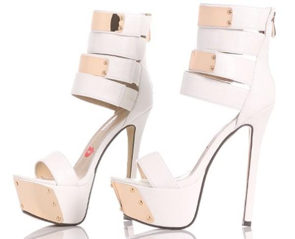 shoes high heels white high heels white