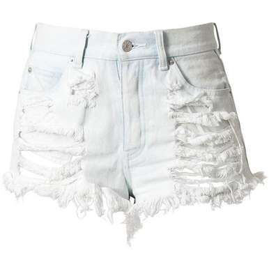 Original White Shorts - Arad Denim