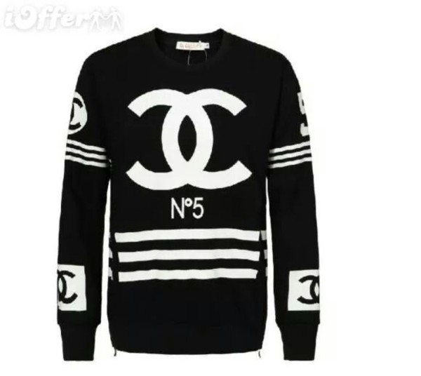 shirt chanel shirt sweater blouse chanel chanel t-shirt swag style cool girl style t-shirt black chanel chanel inspired sweaterr