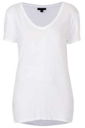 Viscose V Neck Tee - T-Shirts - Tops - Clothing- Topshop