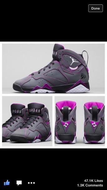 shoes swag purple shoes jordans sneakers