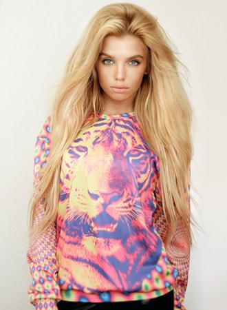 Mr Gugu & Miss Go Psychedelic Tiger Leopard Sweater Multi