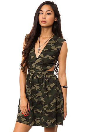 MKL Collective Dress Camouflage in Green -  Karmaloop.com