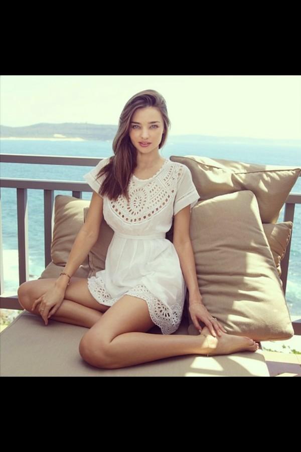 dress white victoria's secret miranda kerr supermodel australia