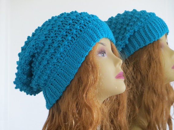 Crochet Slouchy Hat Pattern Woman's Slouchy by CrochetBabyBoutique