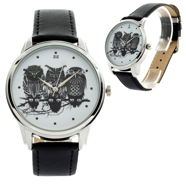 jewels watch watch owls ziz watch ziziztime black n white