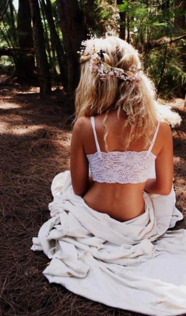 blouse top festival pink lace frilly bralette bustier cropped crop tops bralette underwear shirt crop tops tank top floral tank top beige lace top white white top