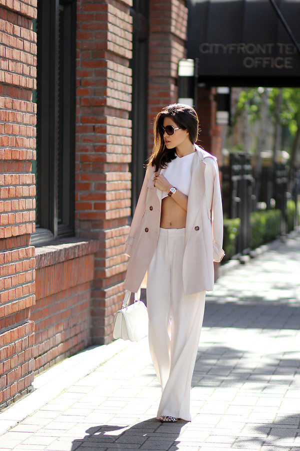 fake leather sunglasses jewels bag top pants coat