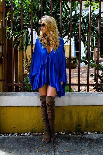 dress blue cover up soah bikiniluxe