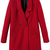 ROMWE | Double-breasted Red Woolen Coat, The Latest Street Fashion