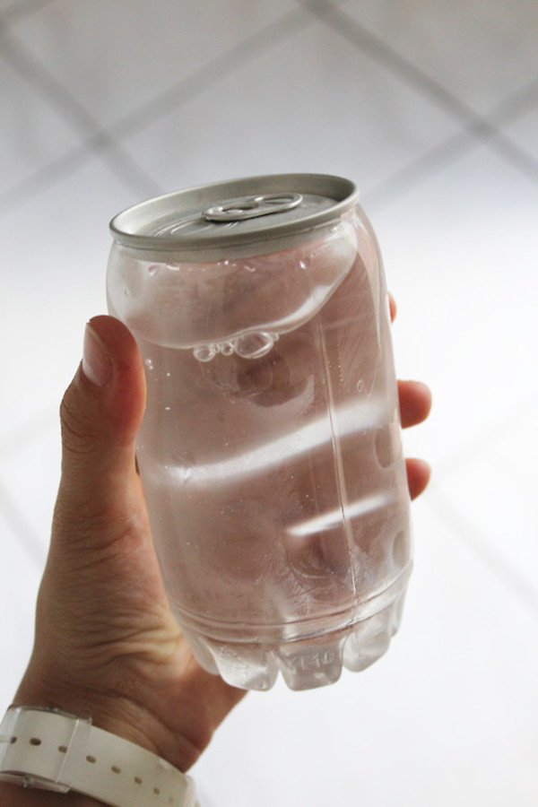 glass see through sodacan pale tumblr water bottle grey l.a. style i love boys tumblr cool 90s style water bag jewels