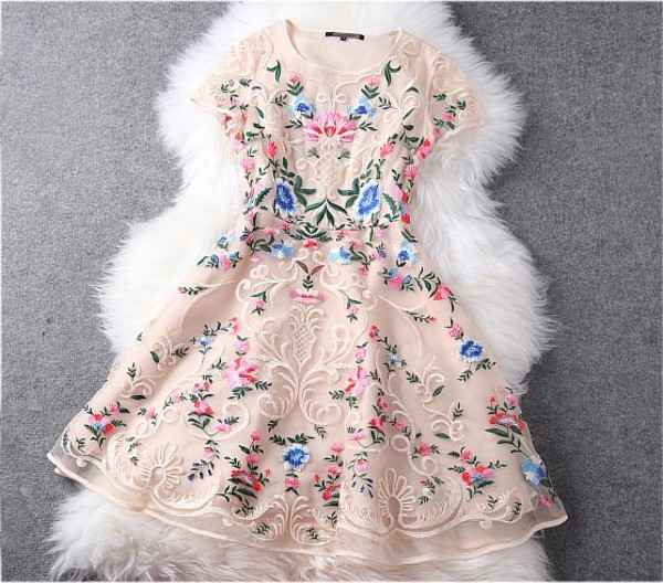dress fashion lace floral sheer
