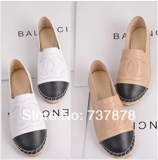 Free shipping Spring 2014 Hot new fashion Genuine Leather trend and comfortable shoes simple fresh flat casual  shoes-inFlats from Shoes on Aliexpress.com