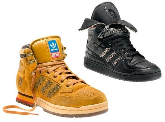 Studded Punk Rock Footwear - Adidas Originals x Diesel Sneakers Brings Rock 'n' Roll Attitude (GALLERY)