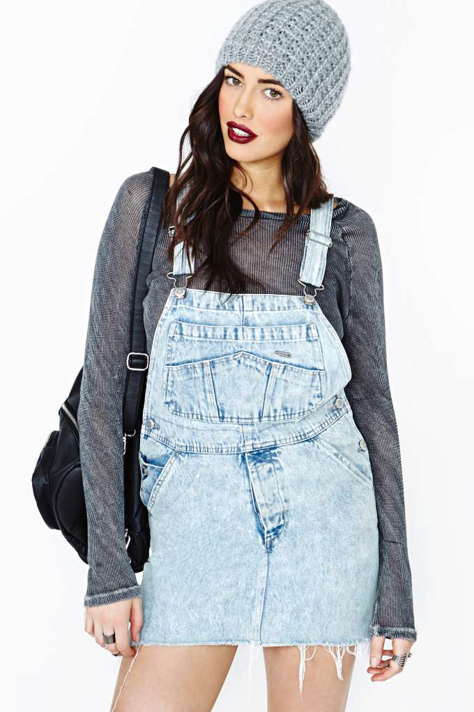 After Party Vintage Teen Angst Denim Jumper in  Clothes Bottoms Skirts at Nasty Gal