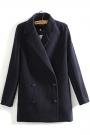 Distinctive Double-breasted Coat - OASAP.com