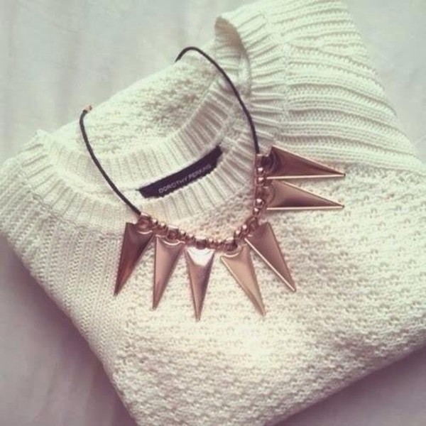 jewels accessories necklace nice pretty sweater