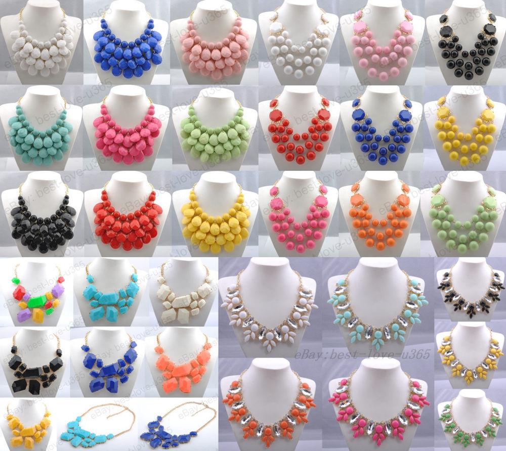 Hot Selling New Fashion Mixed Style Bib Statement Necklace 56 Style U Pick   eBay