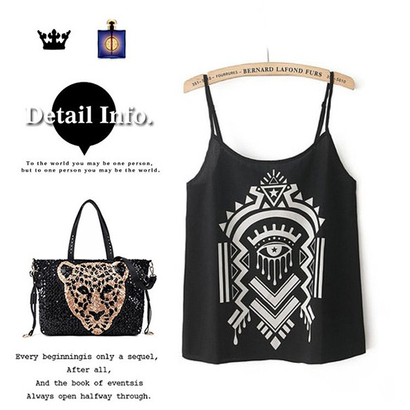 Tribal Print Cropped Cami at Style Moi