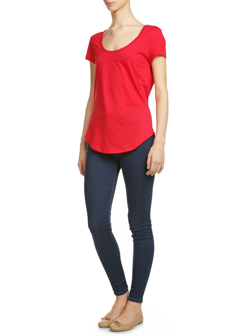 Basic katoenen T-shirt -    Dames - MANGO