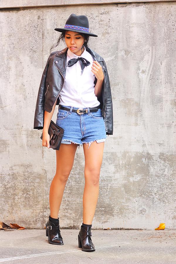 fashion of a novice shorts jacket hat shoes