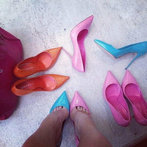 shoes barbie neon escarpins