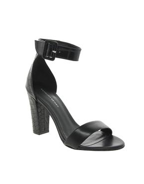 KG Kurt Geiger | KG by Kurt Geiger Cristal Leather Single Sole Heeled Sandals at ASOS