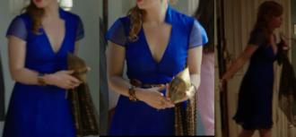 dress blue dress blue chiffon short sleeve dress cobalt